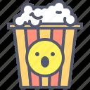 cinema, movie, party, popcorn icon