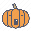 scary, seeds, pie, pumpkin icon