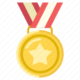 award, football, gold, man of the match, medal, top scorer icon