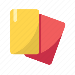 card, football, foul, penalty, red, yellow icon