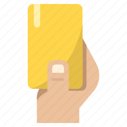 football, foul, penalty, referee, yellow card icon