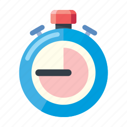 football, injury time, soccer, stopwatch icon