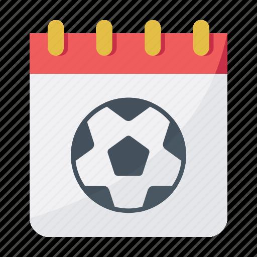 calendar, date, football, match day, soccer icon