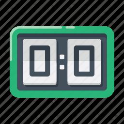 football, goal, scoreboard, soccer icon