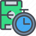 football, management, soccer, sport, stopwatch, time, timer icon
