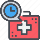 health, injury, medical, time, timer icon