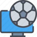 football, live, soccer, sport, tv, video, watch icon