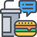 buger, drink, fast food, food, junk food icon