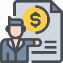 budget, business, coach, document, manager, payment icon