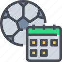 appointment, event, football, schedule, soccer, sport icon