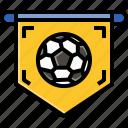 cheers, flag, football, play, soccer, sport, team icon