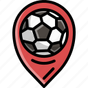 football, game, pin, player, soccer, sport icon