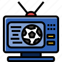 football, live, soccer, sport, television, tv, watch icon