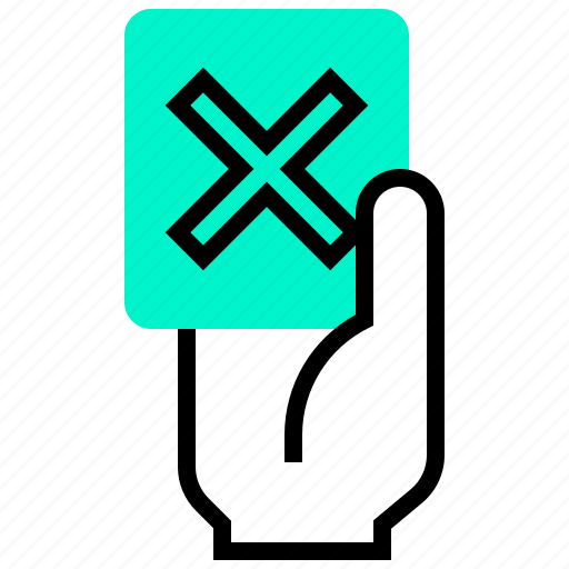 card, cross, football, red, referee icon