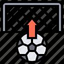 free, goal, goalpost, kick, shoot icon