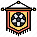 banderole, banner, ensign, football, pennant icon
