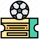 card, coupon, football, match, ticket icon