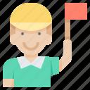 arbitrator, football, linesman, match, referee icon