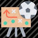 football, plan, schema, strategy, trick icon