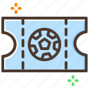 football, game, soccer, sport, ticket icon