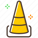 construction, crowd, repair, traffic cone, warning