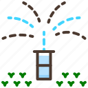 automatic, irrigation, lawn, sprinkler, water icon