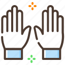 football, game, glove, hand, player, player gloves icon