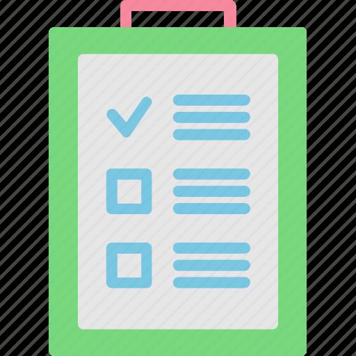 checklist, document, football, form, list icon