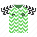 football, kit, nigeria, soccer icon