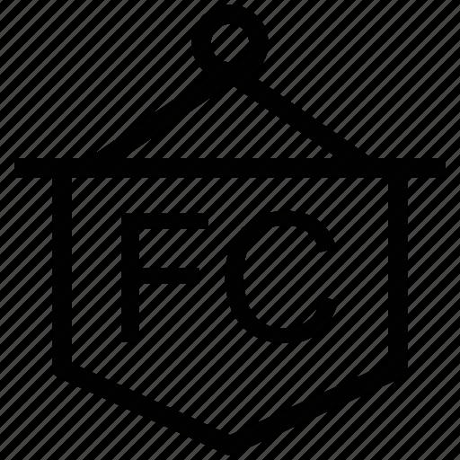football club, football club flag, info, information icon
