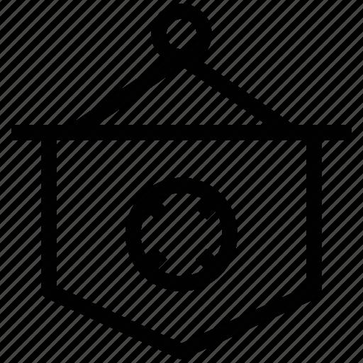football club, football club flag, hanging flag, info, information icon