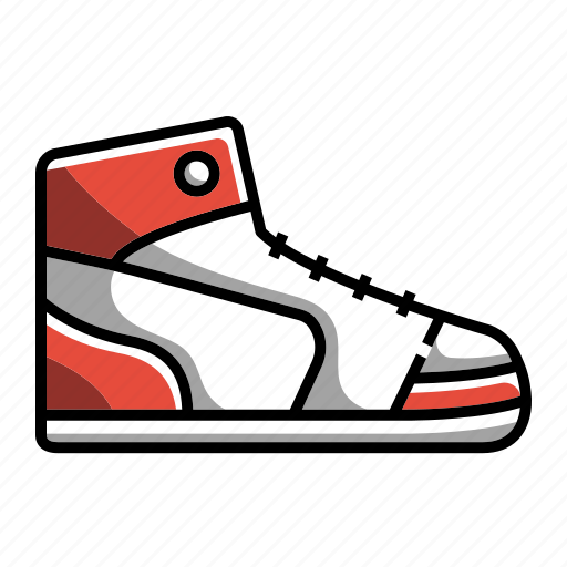 basketball, foot wears, high, high sneakers, shoes, sneakers, sneakers001 icon