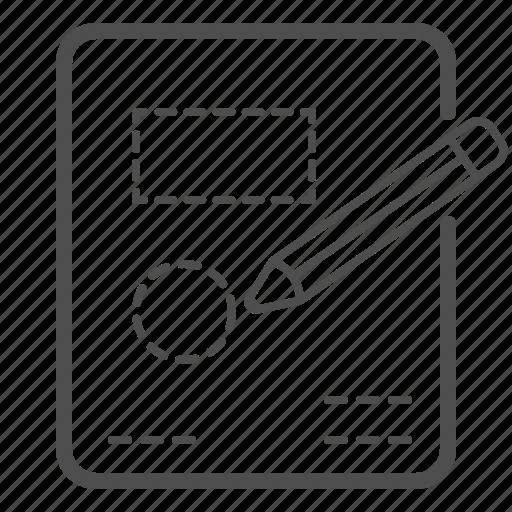 custom, design, drawing, pencil, plan, scheme, tool icon