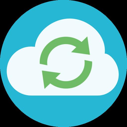 cloud, sync, synced, synchronize icon