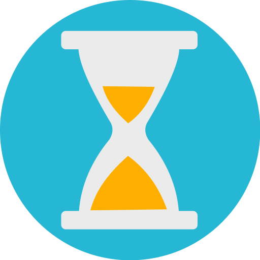 challenge, clock, sand, time icon