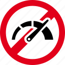 accelerate, forbidden, high, prohibited, speed icon