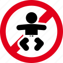 baby, child, forbidden, newborn, prohibited icon