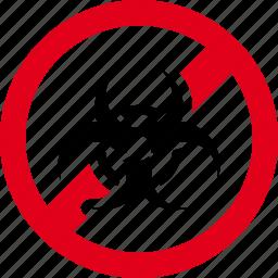 biohazard, biological, forbidden, hazard, hazardous, prohibited icon