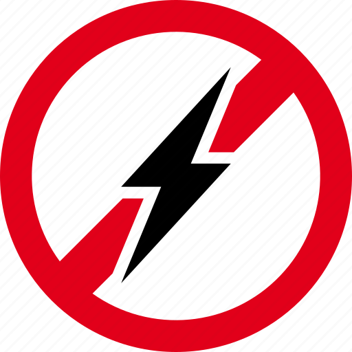 bolt, electricity, forbidden, lightning, prohibited icon