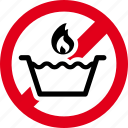 cold, forbidden, prohibited, water icon