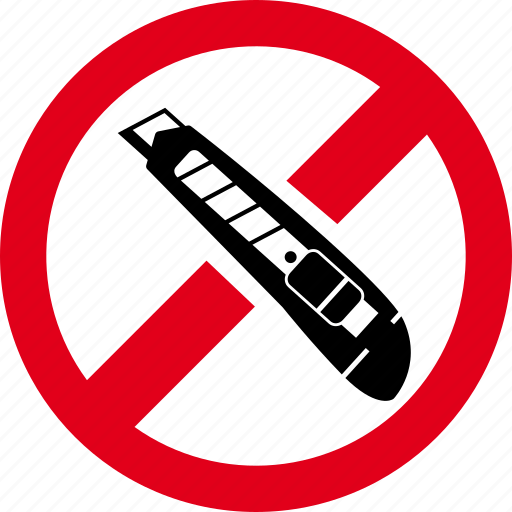 cutter, forbidden, knife, prohibited icon