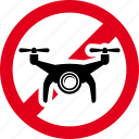 camera, drone, fly, forbidden, prohibited icon