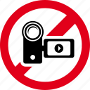 cam, camera, film, forbidden, handy, prohibited, video icon