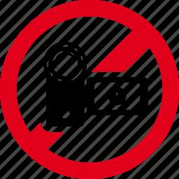 cam, camera, film, forbidden, handy, prohibited, video icon