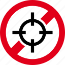 forbidden, hunt, open, prohibited, season, target icon