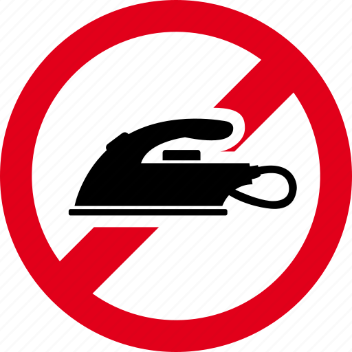 forbidden, hot, iron, ironing, prohibited icon