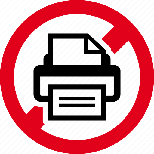 ecology, forbidden, paper, print, prohibited icon