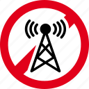 antenna, forbidden, prohibited, signal