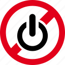 forbidden, on, prohibited, start, turn icon