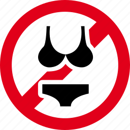 bikini, forbidden, prohibited, swimsuit, swimwear icon